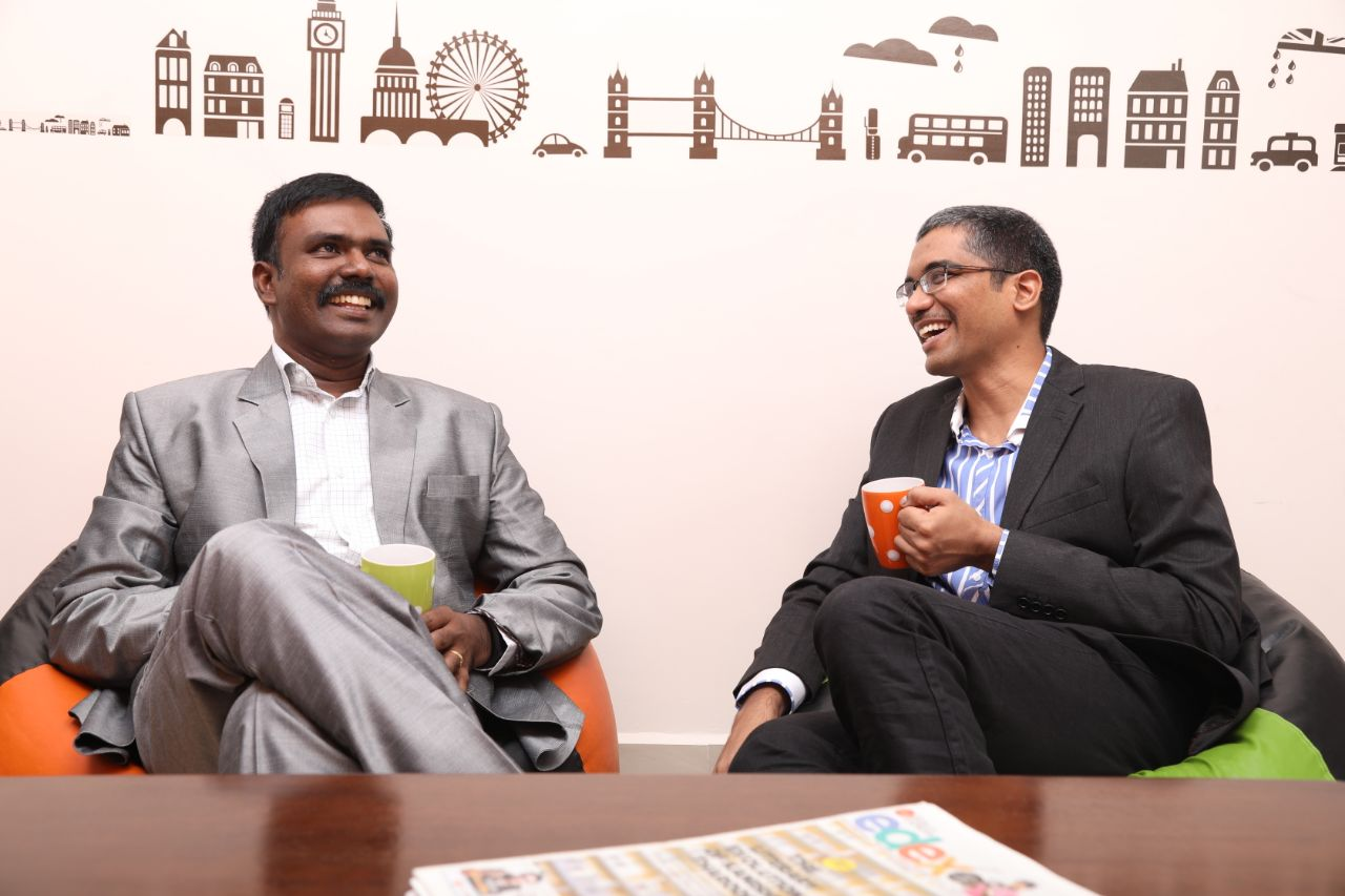 Godwin Stanislaus and Ananth Sivagnanam having a casual moment in Diverse Brains Office