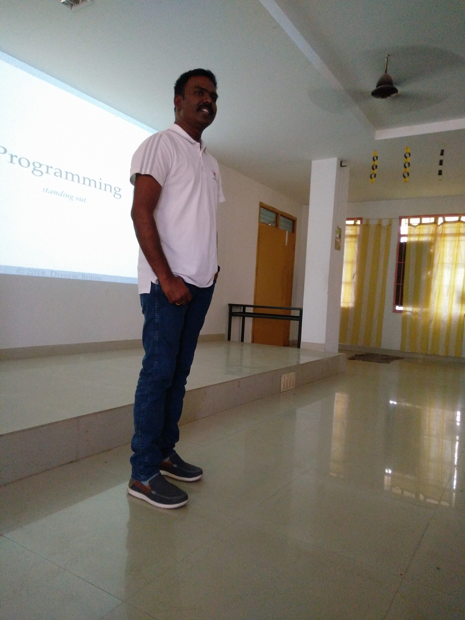 Elevate Excel 2018, Train the Tutors, session by Godwin Stanislaus about IT Industry Programming best practices