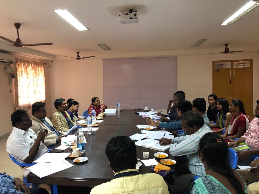 Excel Engineering College CSE and IT Department(s) Academic Advisory Committee Meeting in progress