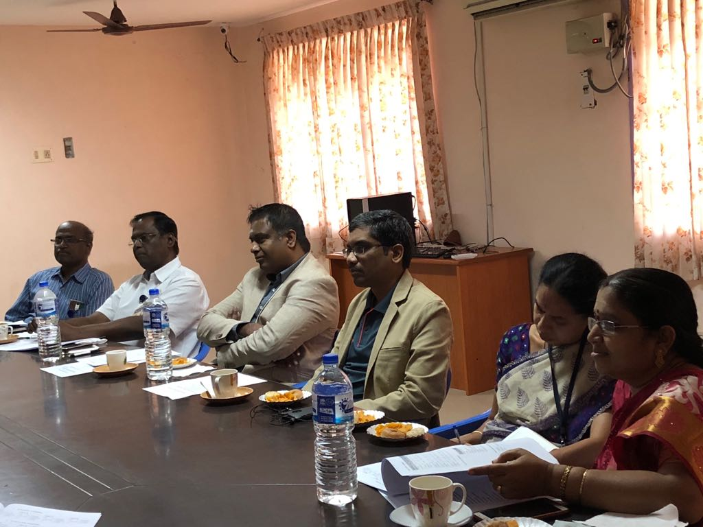 Excel Engineering College Dean, Principal, Sambasivam Sathyamoorthy and Ananth Sivagnanam from Diverse Brains listening in along with Professor(s) in DAAC meeting