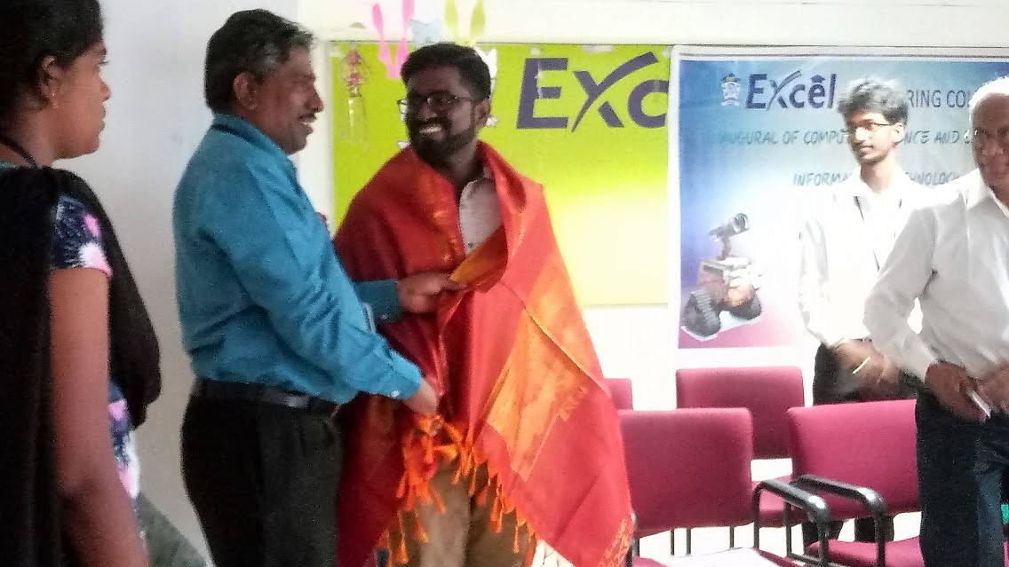 Excel Engineering College - Horcrux - Computer Science - Felicitation - 04 July 2017 - Sathish Lohadhas
