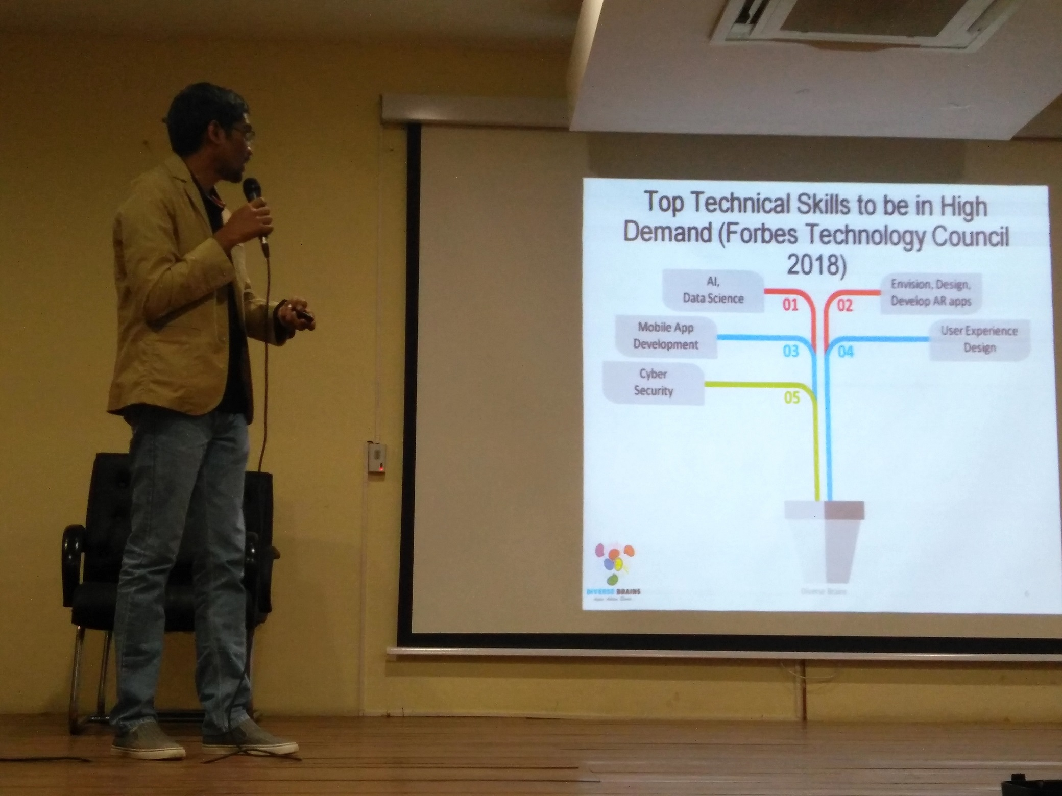 Ananth Sivagnanam sharing about Top Technical Skills in High Demand as listed by Forbes Technology Council 2018