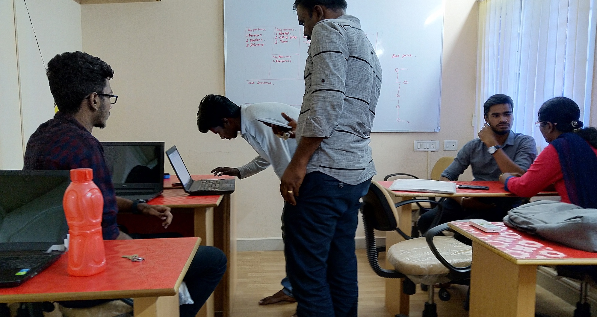 2nd year Computer Science (CS) students of MCC with Godwin and Ananth in Diverse Brains for brainstorming of their ideas