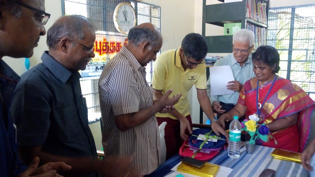 World Book Day 2018 Event Winners Prize Distribution Ceremony; Ananth Sivagnanam seen representing Diverse Brains